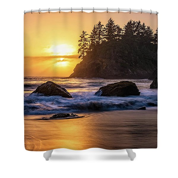 Marine Layer Sunset At Trinidad, California Shower Curtain
