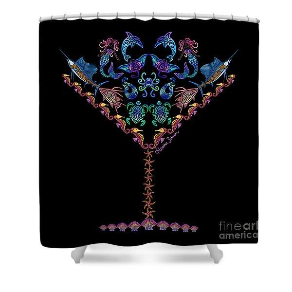 Marine Martini Shower Curtain