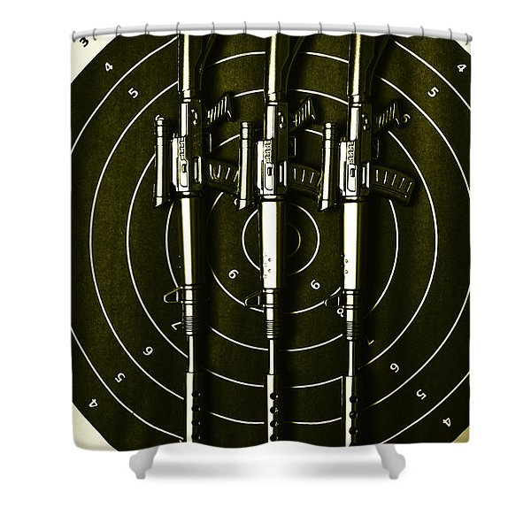 Marines And Militia Range Shower Curtain