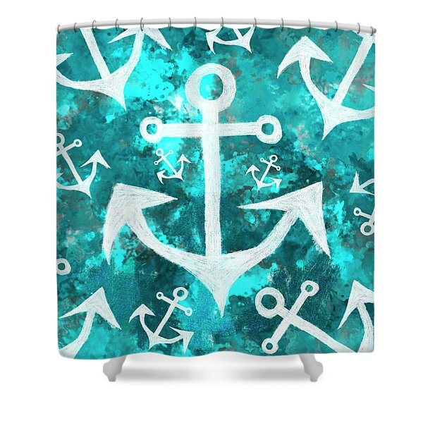 Maritime Anchor Art Shower Curtain