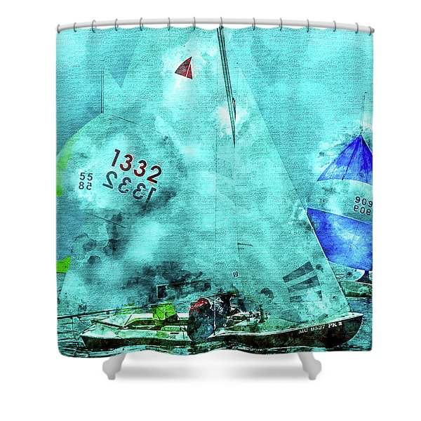 Maritime Number One Shower Curtain