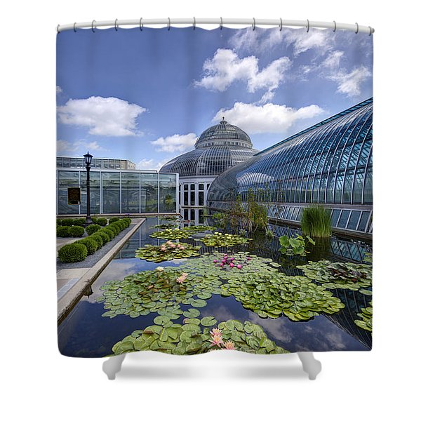 Marjorie Mcneely Conservatory At Como Park And Zoo Shower Curtain