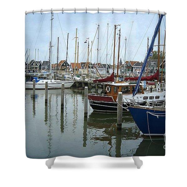 Marken Harbour Shower Curtain