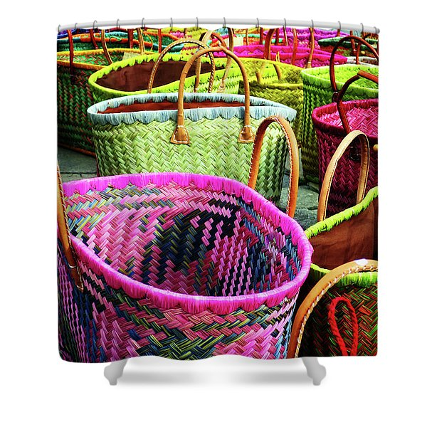 Market Baskets - Libourne Shower Curtain
