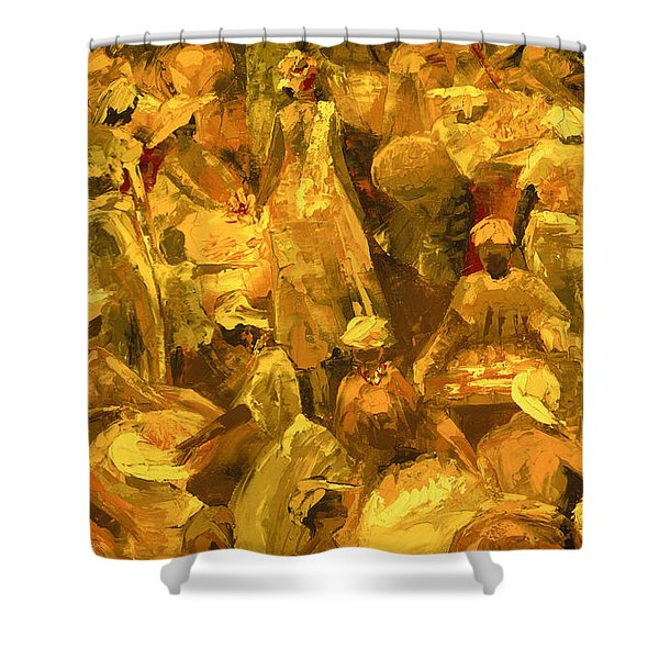 Market Shower Curtain
