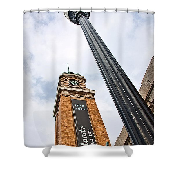 Market Clock Tower Shower Curtain