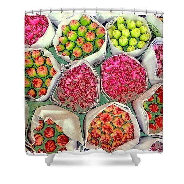 Market Flowers - Hong Kong Shower Curtain