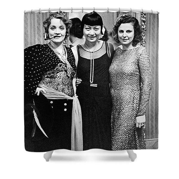 Marlene Dietrich Anna May Wong Leni Riefenstahl Berlin 1930 Shower Curtain