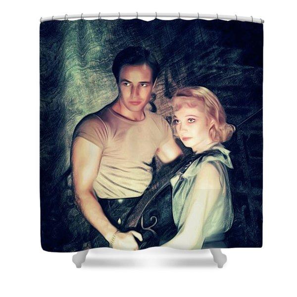 Marlon Brando And Vivien Leigh, A Streetcar Named Desire Shower Curtain