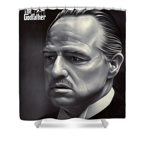Marlon Brando Drawing  Shower Curtain