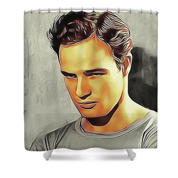Marlon Brando, Hollywood Legend Shower Curtain