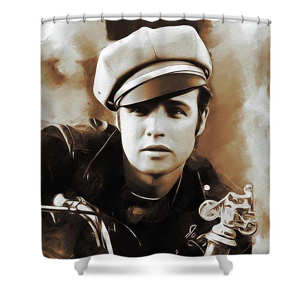 Marlon Brando, Hollywood Legends Shower Curtain