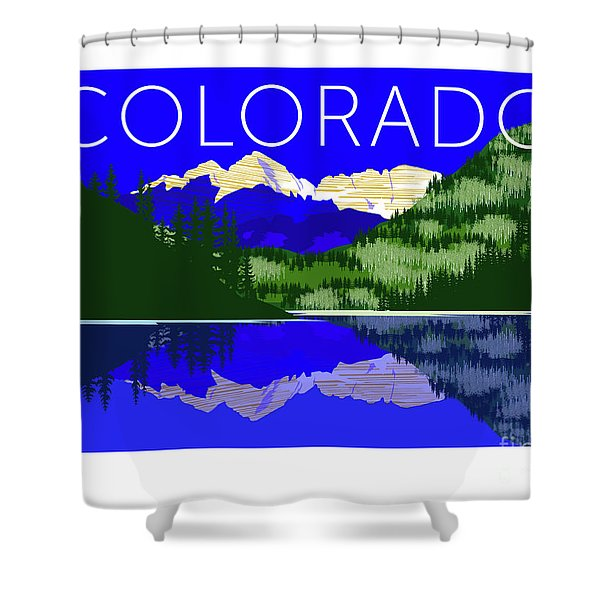 Maroon Bells Day Shower Curtain
