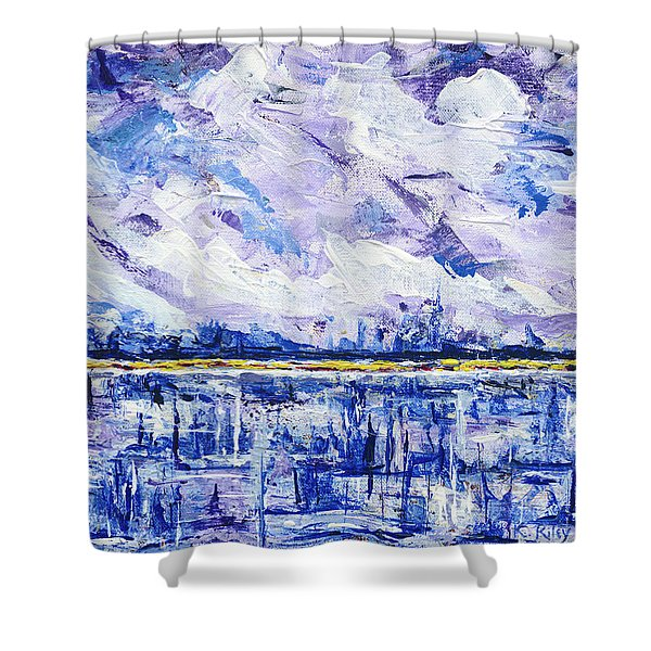 Shower Curtain featuring the painting Marsh Madness by Kathryn Riley Parker