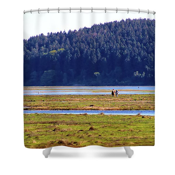 Marsh People Shower Curtain