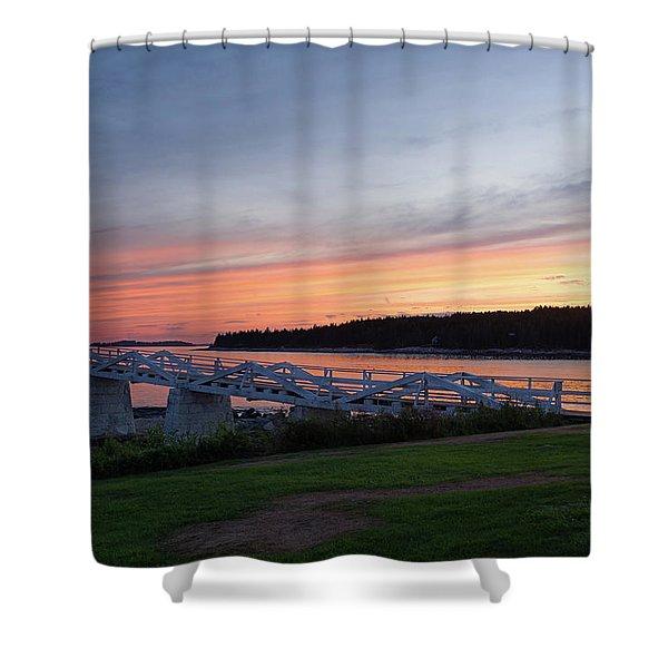 Marshall Point Lighthouse, Port Clyde, Maine -87444 Shower Curtain