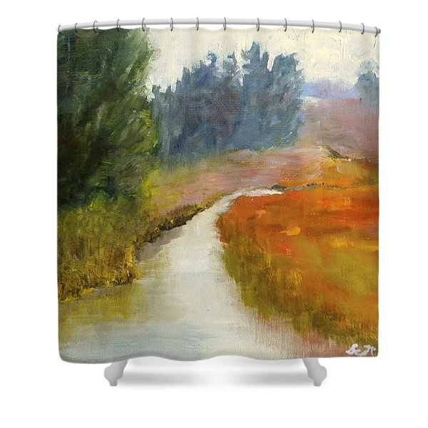 Marshes Of New England Shower Curtain