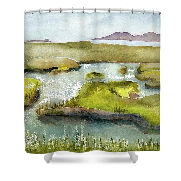 Marshes With Grash Shower Curtain