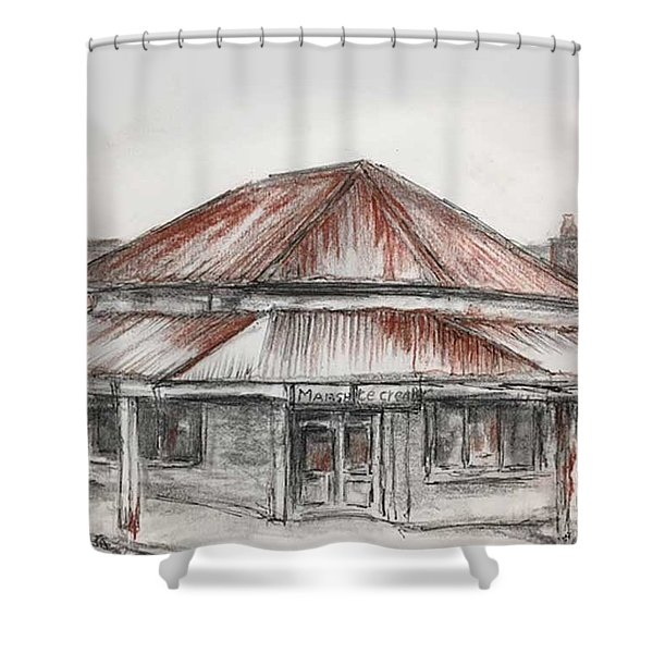 Marsh's Corner Store Shower Curtain