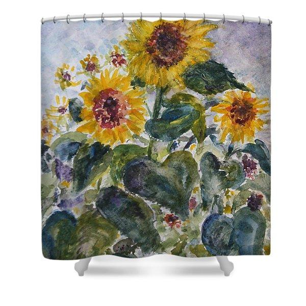 Martha's Sunflowers Shower Curtain