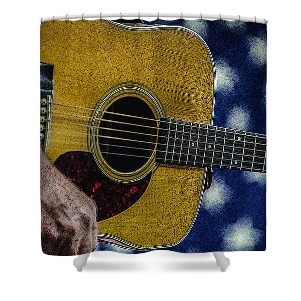 Martin Guitar 1 Shower Curtain