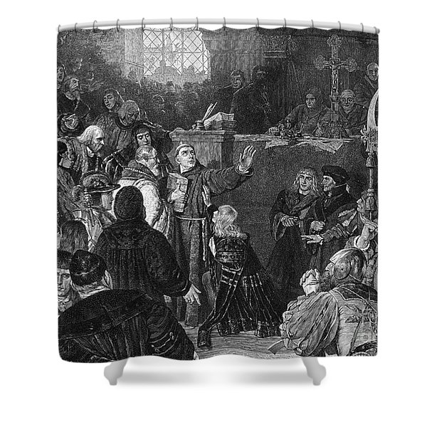 Martin Luther, Imperial Diet Of Worms Shower Curtain