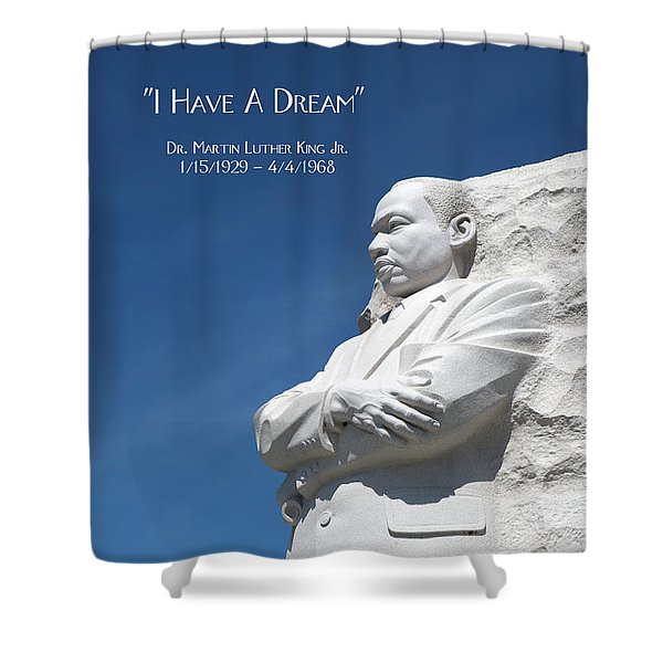 Martin Luther King Jr. Monument Shower Curtain