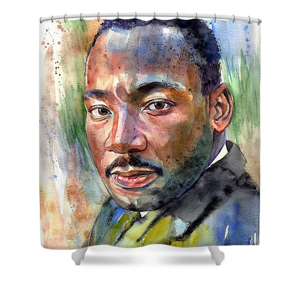 Martin Luther King Jr. Painting Shower Curtain