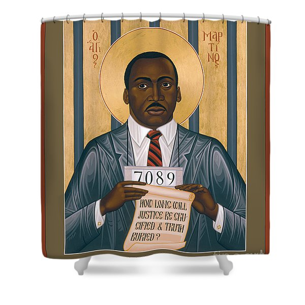 Martin Luther King Of Georgia  - Rlmlk Shower Curtain