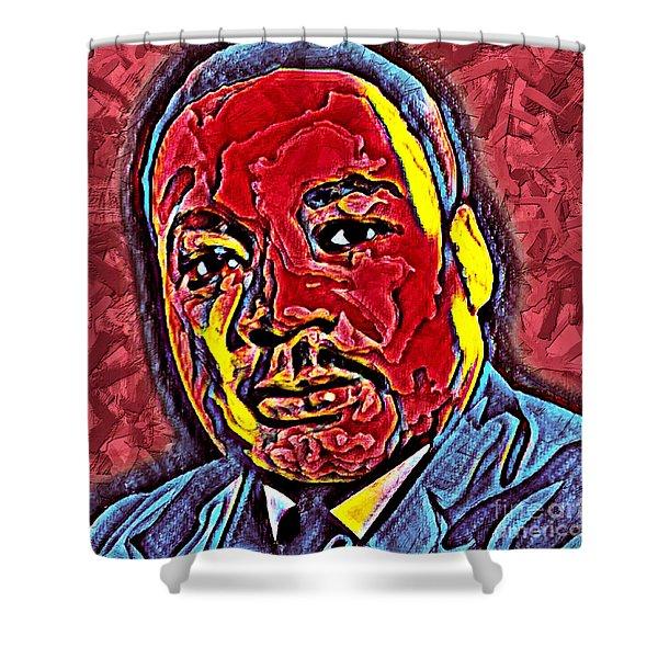 Martin Luther King Jr. Portrait Shower Curtain