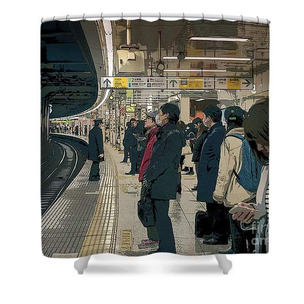 Marunouchi Line, Tokyo Metro Japan Poster 2 Shower Curtain