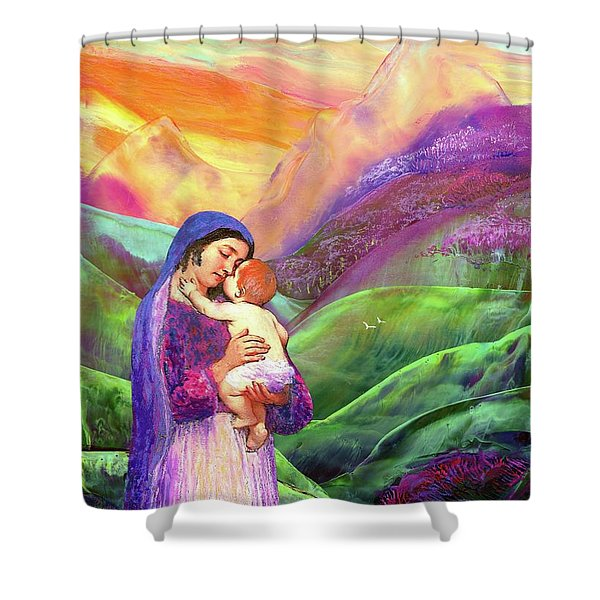 Mary And Baby Jesus Gift Of Love Shower Curtain