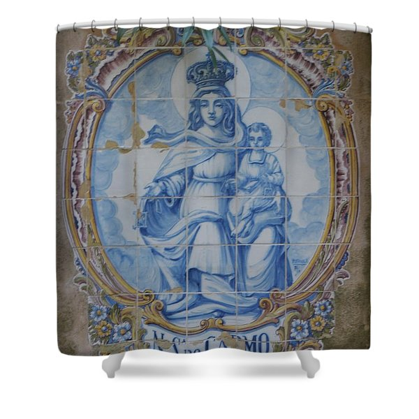 Mary And Jesus Shower Curtain