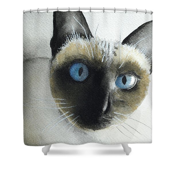Mary Cat Shower Curtain