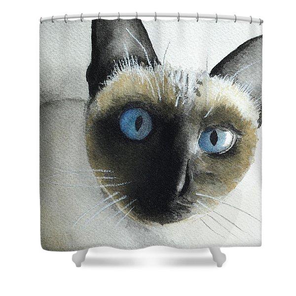 Mary Cat Shower Curtain