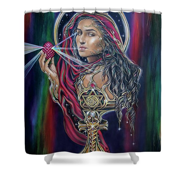 Mary Magdalen - The Holy Grail Shower Curtain