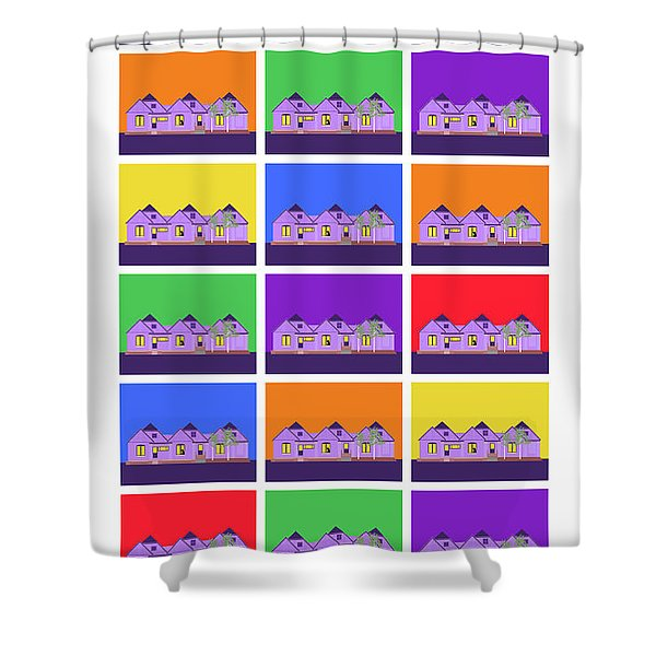 Mary Montage Shower Curtain