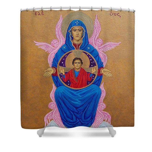 Mary Mother Of Mercy Icon - Jubilee Year Of Mercy Shower Curtain