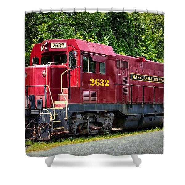Maryland And Delaware Engine 2632 Shower Curtain