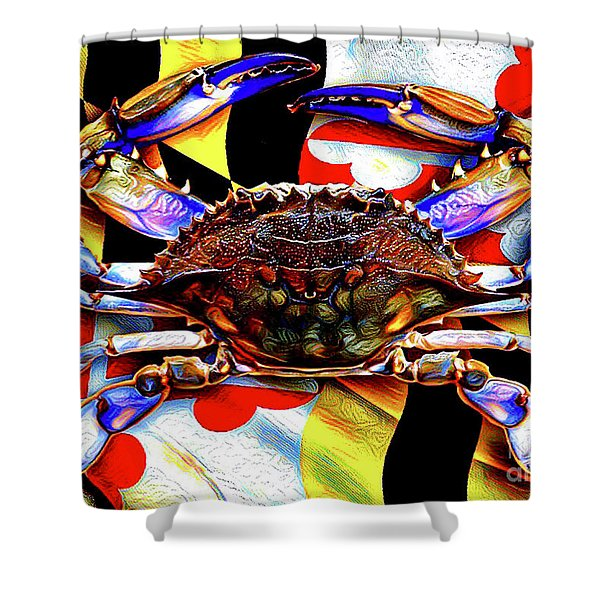 Maryland Blue Crab Shower Curtain