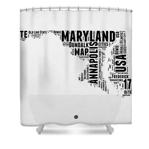 Maryland Word Cloud 2 Shower Curtain