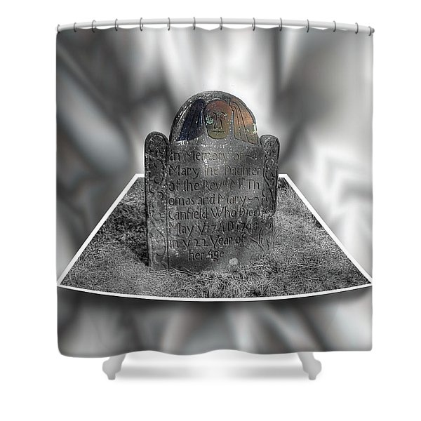 Mary's Death's Head In 3d Shower Curtain