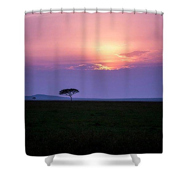 Masai Mara Sunset Shower Curtain