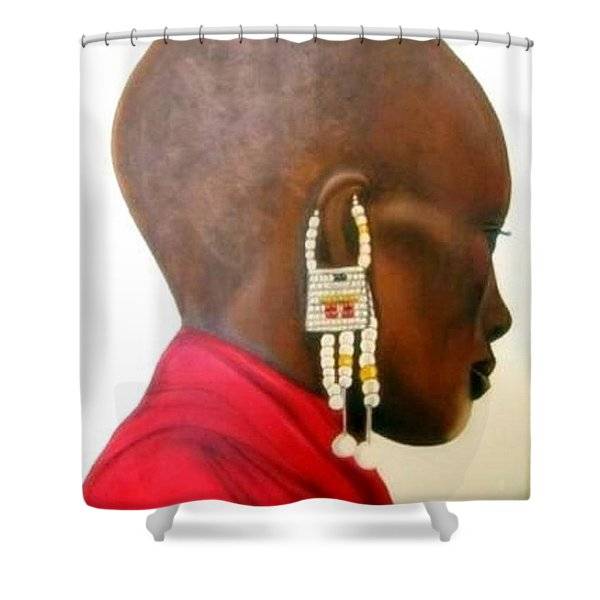 Masai Woman - Original Artwork Shower Curtain