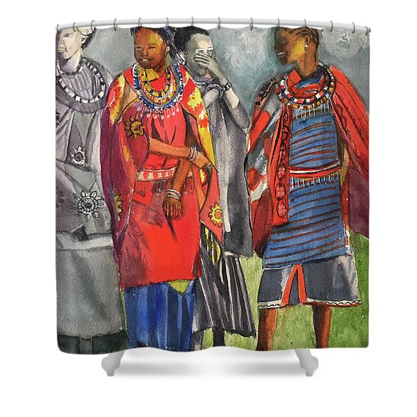 Masai Women Shower Curtain