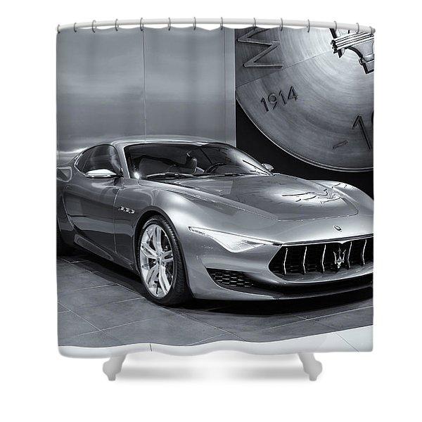 Maserati Alfieri Reflections Mono Shower Curtain