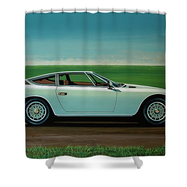 Maserati Khamsin 1974 Painting Shower Curtain