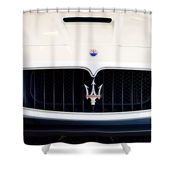 Maserati White Pano 121715 Shower Curtain
