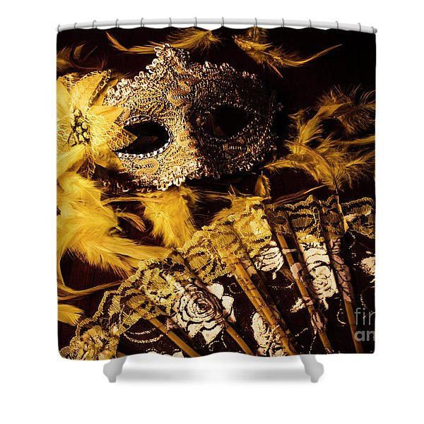 Mask Of Theatre Shower Curtain