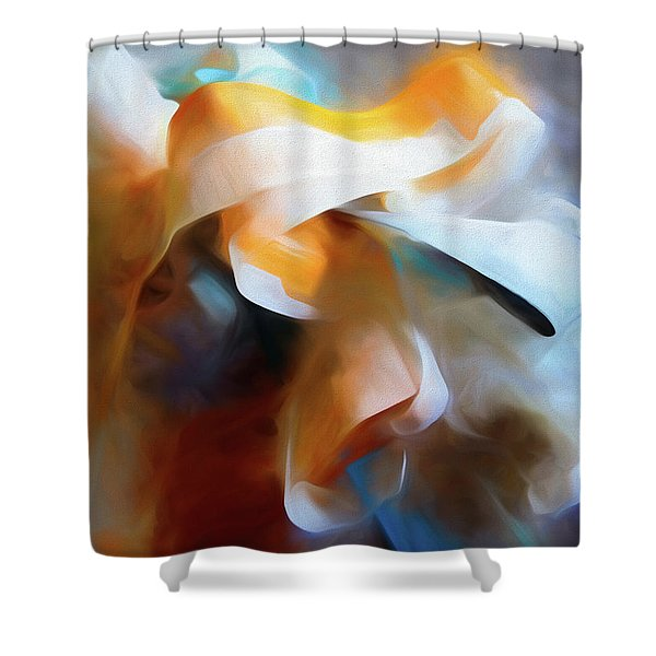 Masking Tape And Paint Composition Shower Curtain